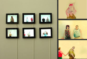Eszter Szab�: People, 2008/2009, 12 videos, electronic picture frames